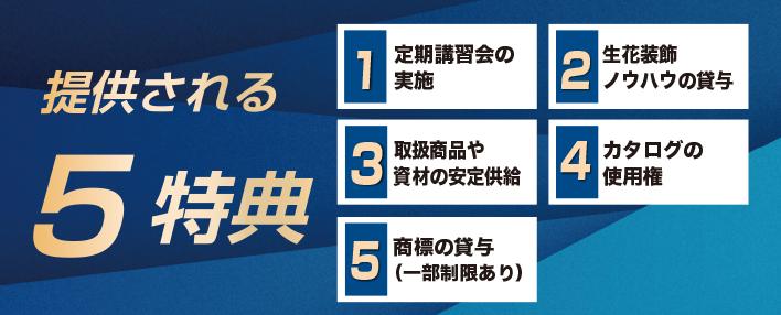 フランチャイズシステムで提供される5特典