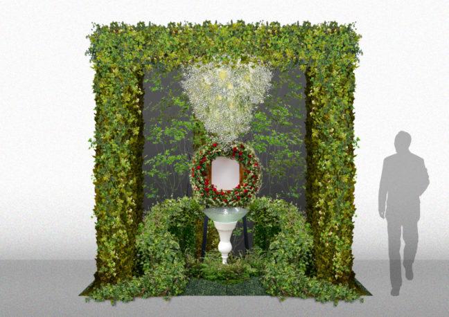 フラワーデザイニング祭壇ユー花園出展花祭壇